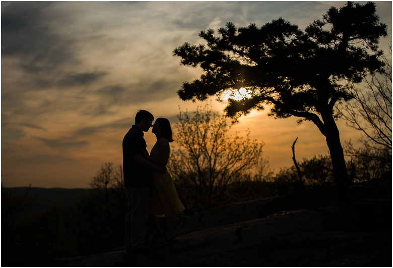 Sunset Engagement session at Bear Mountain State Park